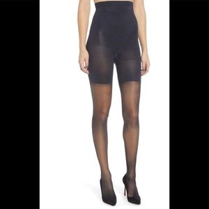 NIB SPANX High Waisted Sheers in Black Size C